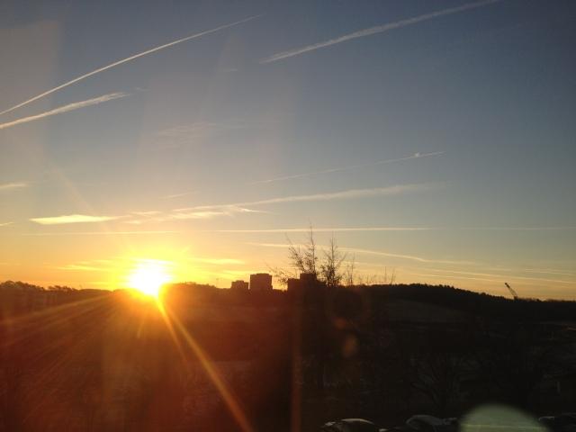 sunrise at soccer