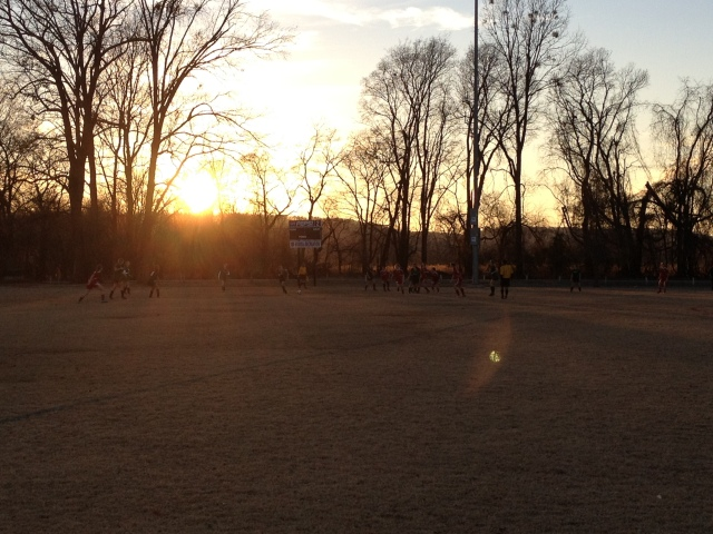 sunset at soccer